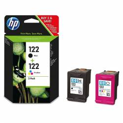 HP Pack Combo HP122 Noire + HP122 3 Couleurs CR340