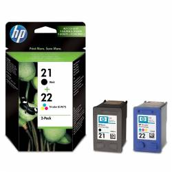 HP Pack Combo HP21 Noire + HP22 3 Couleurs SD367