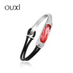 Ouxi Bracelet 50039-1 Swarowski Elements Rhodium Rouge