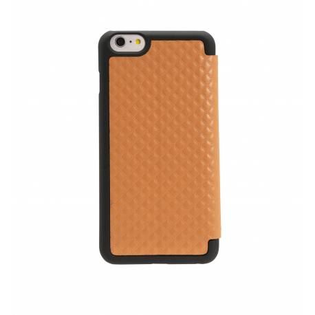 OBIEN AP65-12 Etui/Support iPhone 6 Plus en similicuir Camel