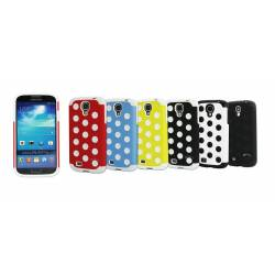 Obien Coque Samsung Galaxy S4 Noir + 2 Top Cover Rouge/Noir