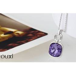 Ouxi Collier 10733-1 Swarowski Elements Rhodium Violet