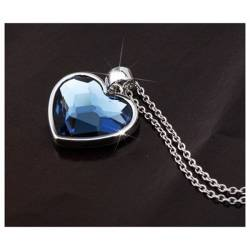 Ouxi Collier 10852-1 Swarowski Elements Rhodium Bleu