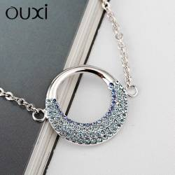 Ouxi Gourmette 30257-1 Swarowski Elements Rhodium