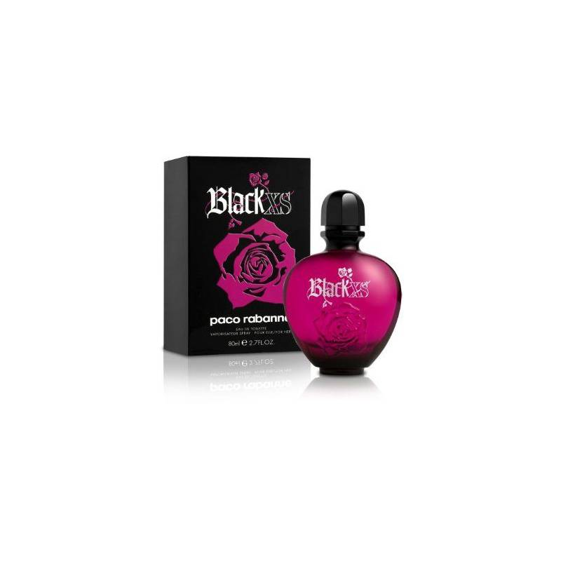 Paco rabanne black xs for her eau de toilette 80 ml www for Paco rabanne black rose