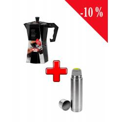 Pack Ibili Cafetière Expresso + Ibili Thermos Inox 500 ML