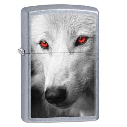 Zippo Briquet Red Eye Wolf Chrome Réf. 28877