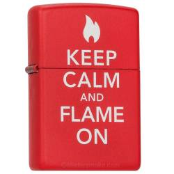 Zippo Briquet Keep Calm And Flame On