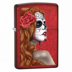 Zippo Briquet Red Day Of The Dead Girl Classic