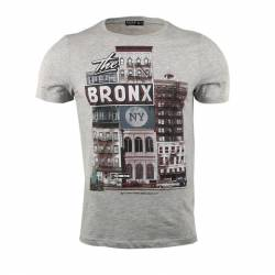Style By E-shop T-shirt Homme Col Rond Demi-manches
